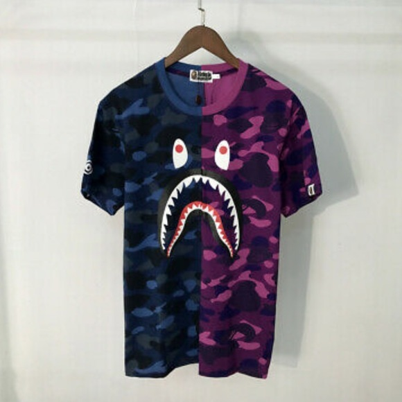 124ad1f1 Bape Shirts | Three S Tees For Sale Purple Red Camo | Poshmark